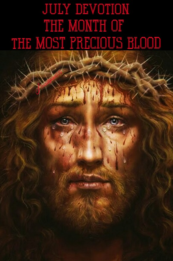 JULY DEVOTION THE MONTH OF THE MOST PRECIOUS BLOOD 1 JULY 2020