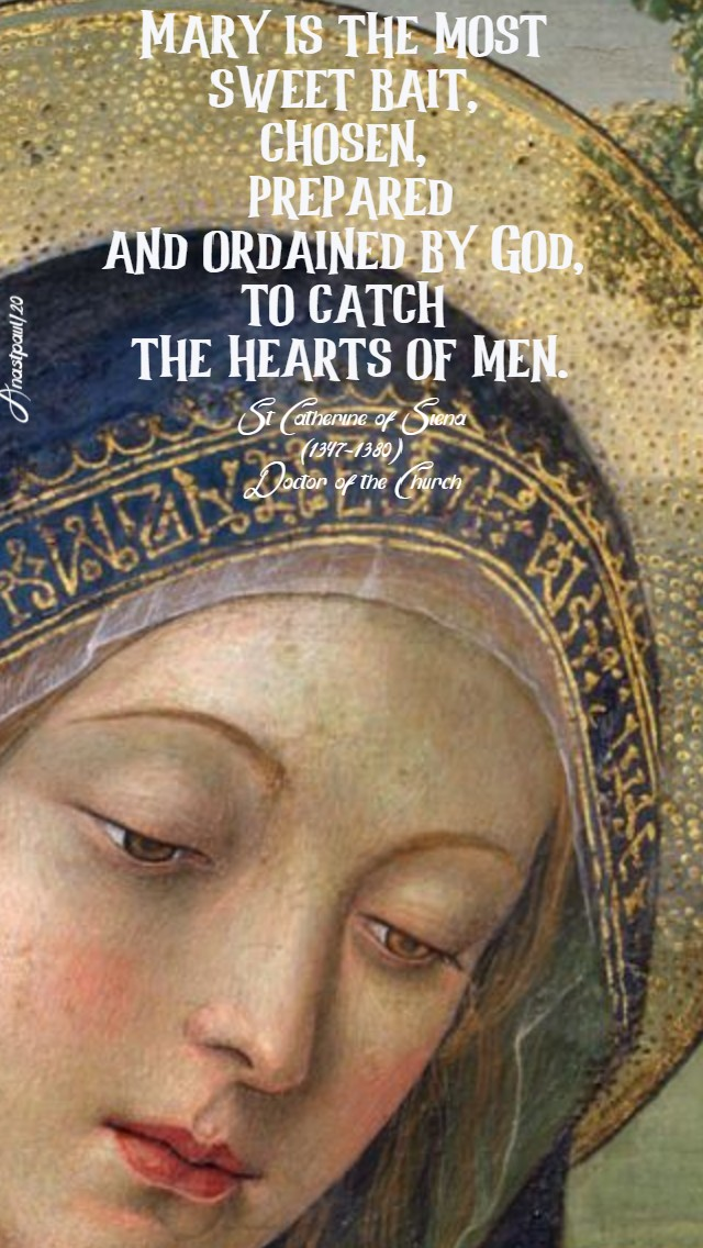 mary is the most sweet bait - st catherine of siena 16 july 2020