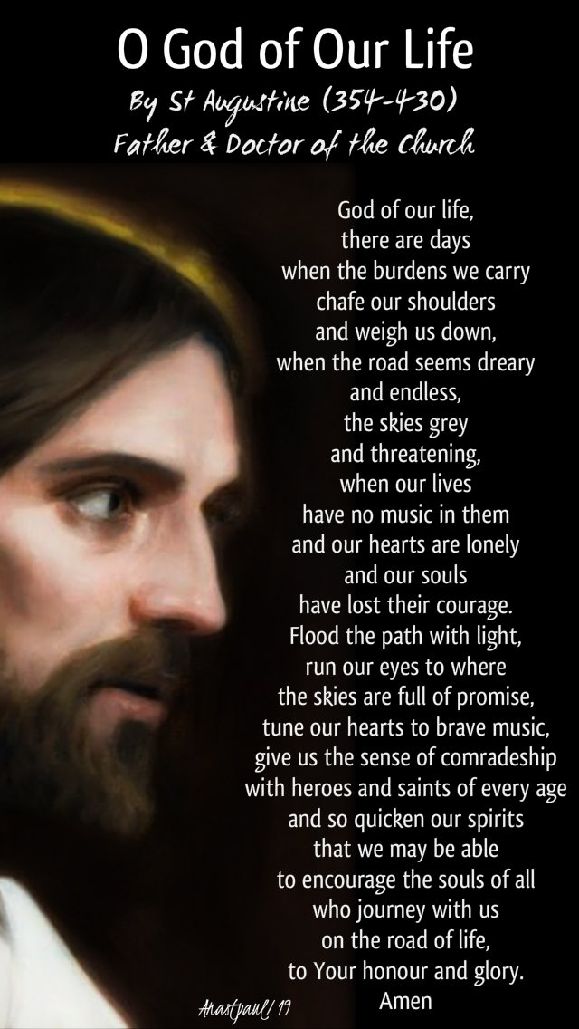 o god of our life - st augustine - 7 jan 2020