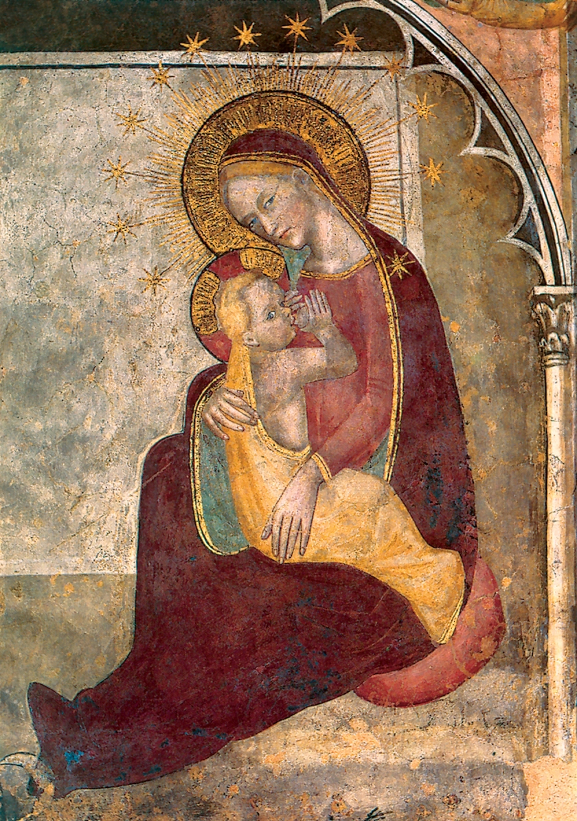 ORIGINAL MADONNA OF HUMILITY BY PAOLO SERAFINI