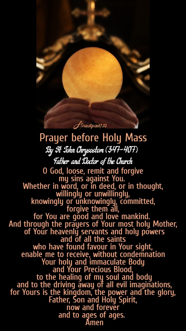 prayer before holy mass by st john chrysostom 12 july 2020