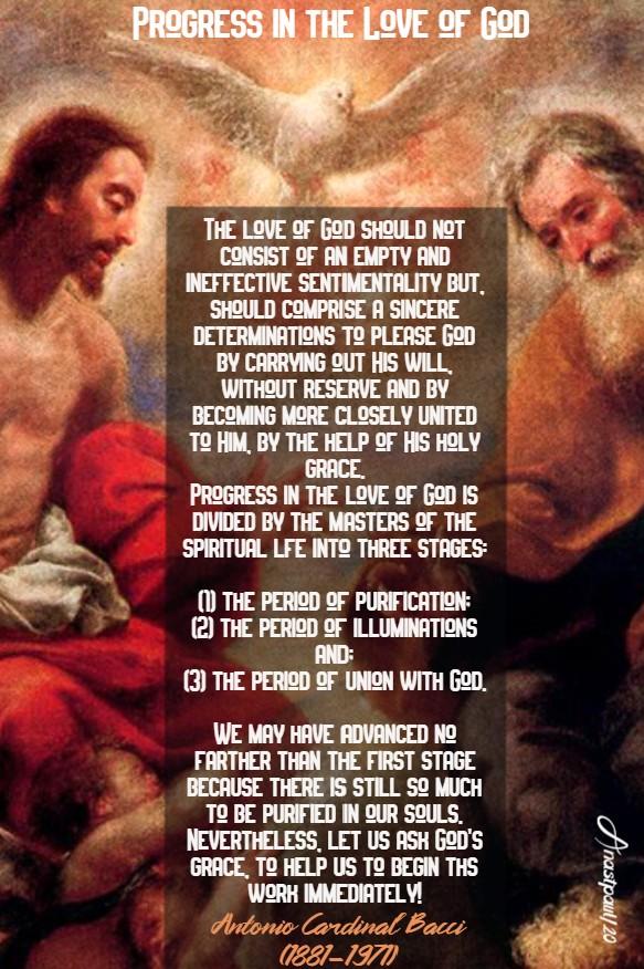 progress in the love of god - bacci 24 july 2020