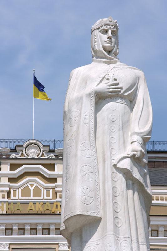 Saint-Olga-statue-Kiev-Ukr
