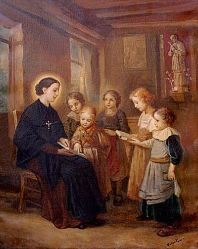st bartholomea with children teaching