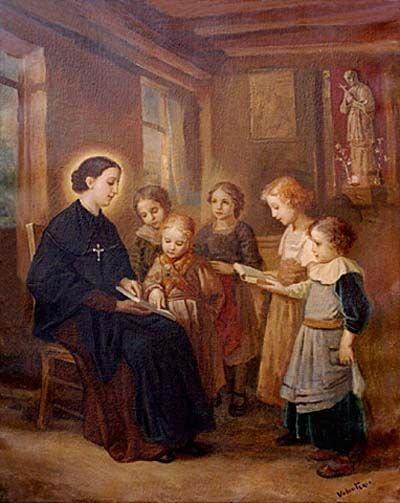 st bartholomea with children teaching
