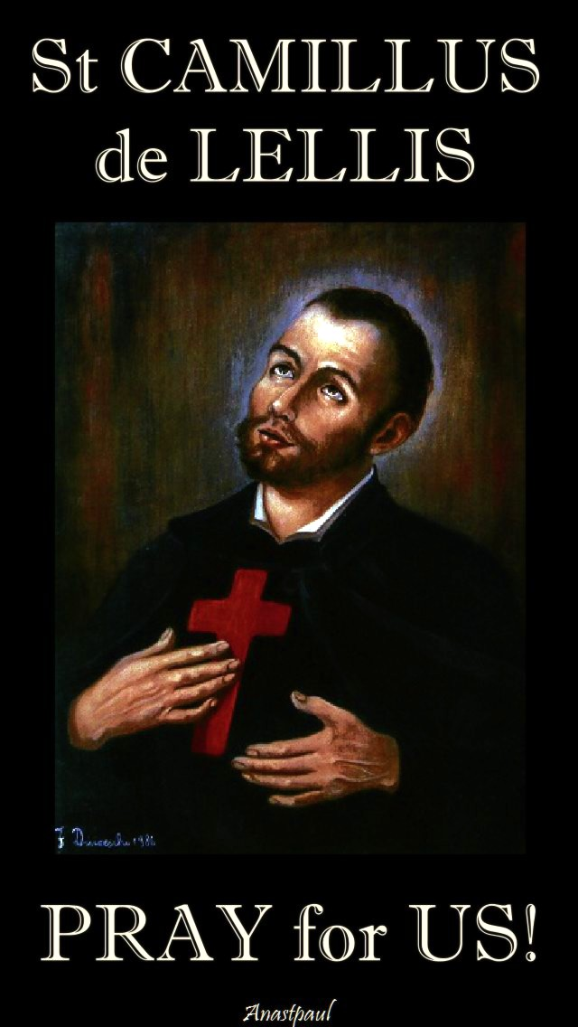 st camillus de lellis pray for us