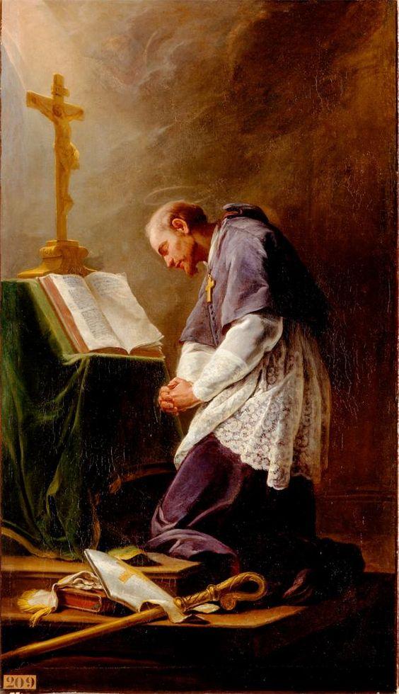 st francis de sales beautiful image at prayer