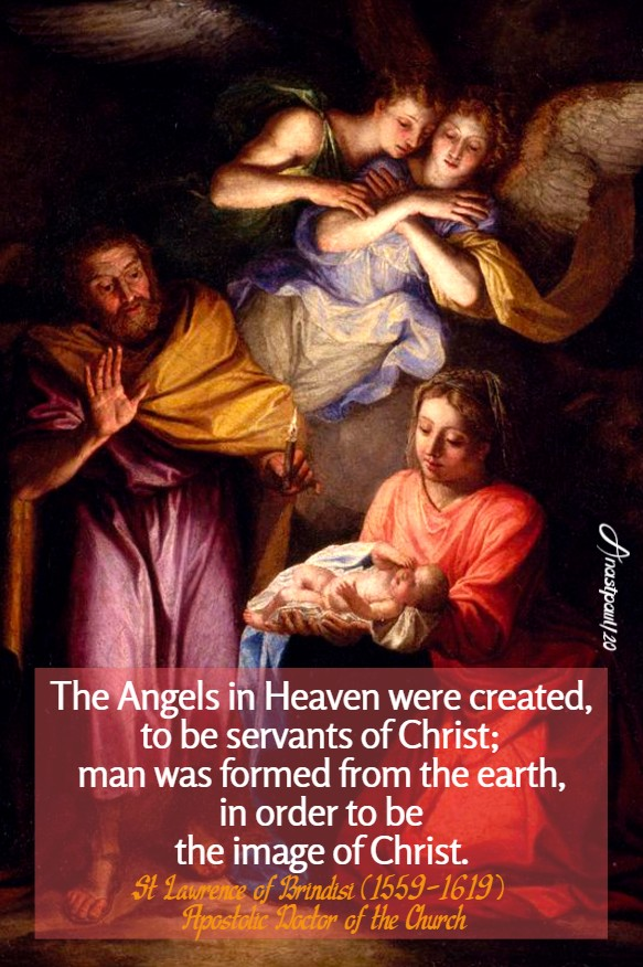 the angels in heaven - st lawrence of brindisi 21 july 2020