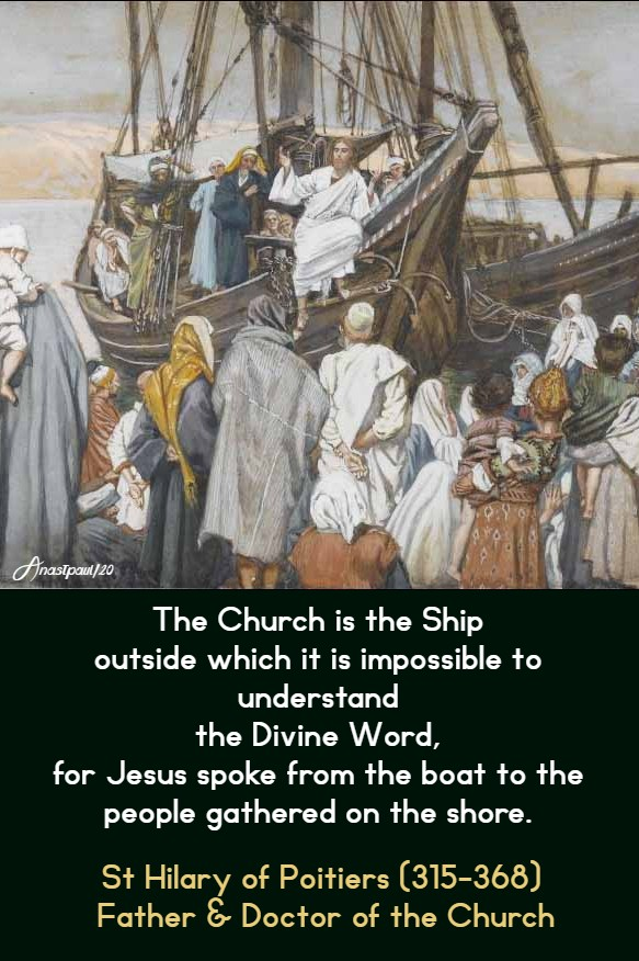 the-church-is-the-ship-outside-of-which-st-hilary-divine-word-13-jan-2020 and 12 july 2020