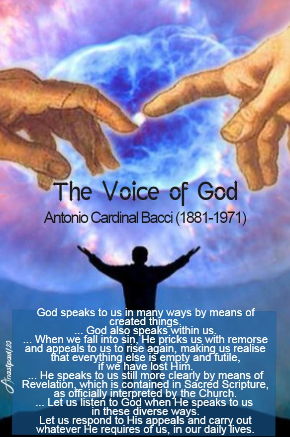 the voice of god - bacci 17 july 2020