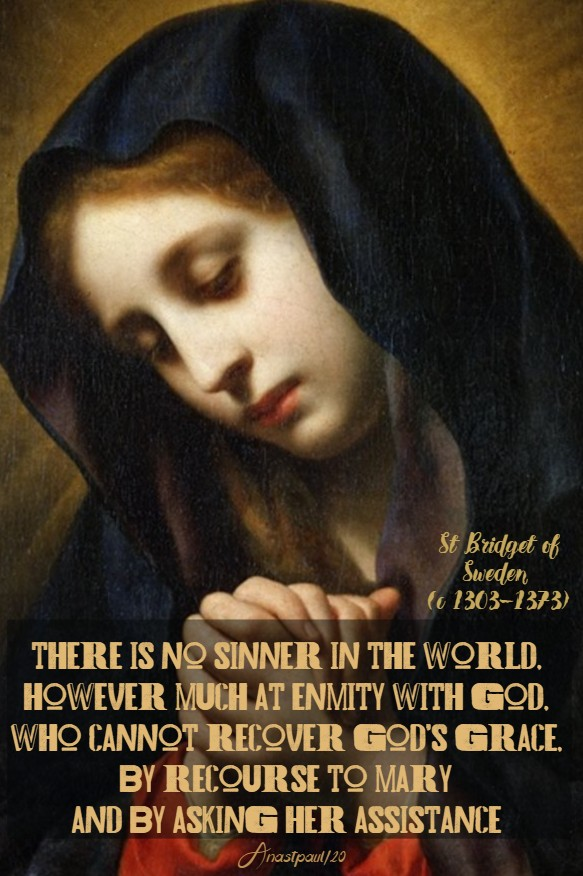 there is no sinner in the world - st bridget o sweden 23 july 2020