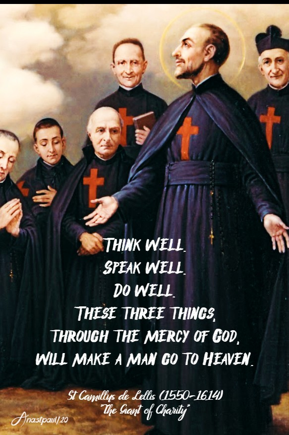 think well speak well do well - st camillus 14 july 2020