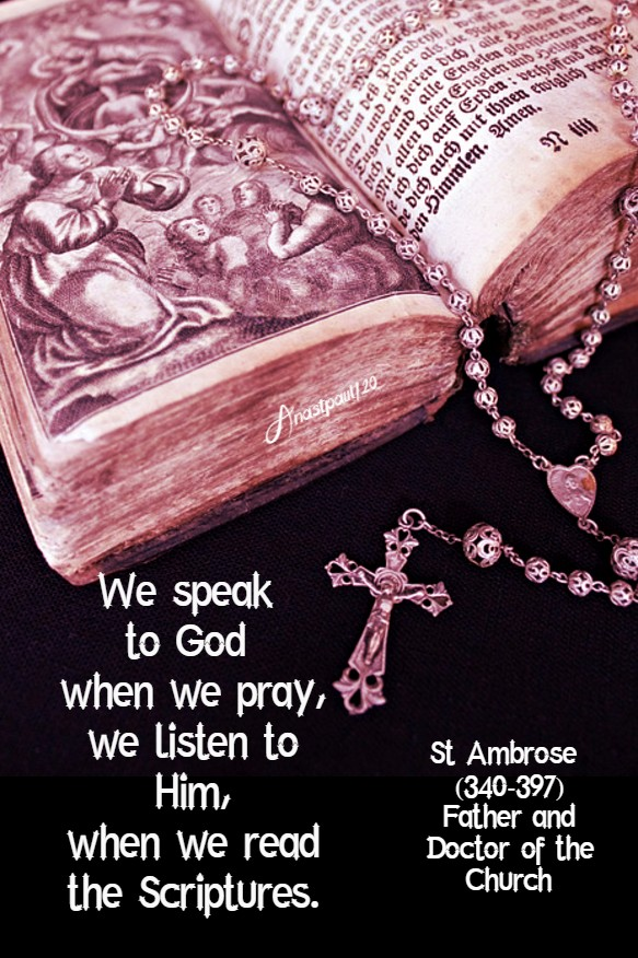 we speak to god when we pry - st ambrose 12 july 2020