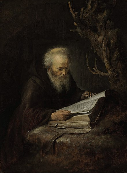 440px-Gerrit-Dou-A-Hermit-Saint-Reading-in-a-Cav_grande