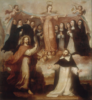 Allegory of the Virgin Patroness of the Dominicans - Miguel Cabrera