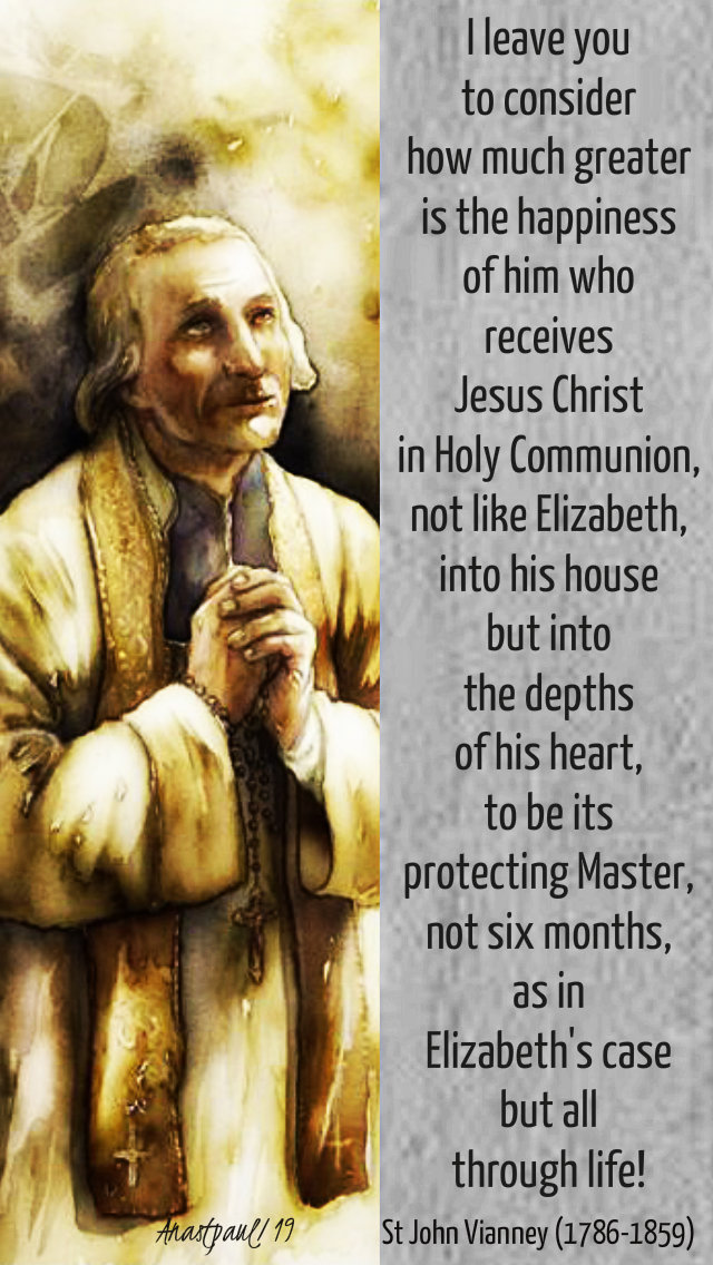 i leave you to consider - st john vianney sun refl 31 march 2019 laetare sun
