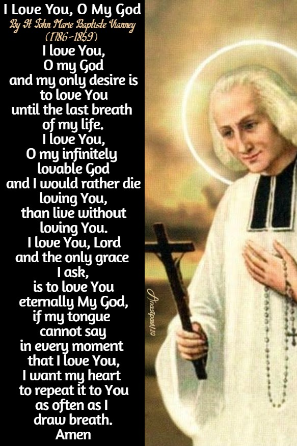 i love you o my god - st john vianney 4 august 2020