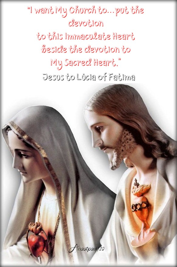 i want my church to put the devotion - jesus to lucia of fatima 20 june 2020