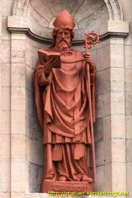 st gaugericus statue church of st gery france