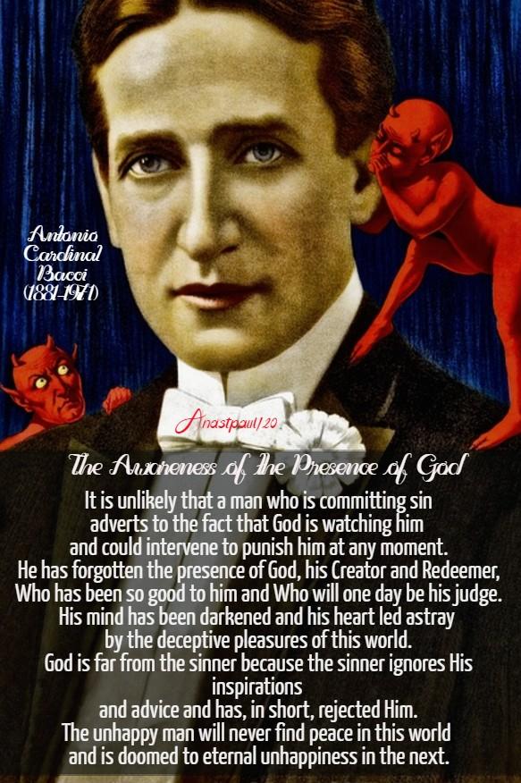 the awareness of the presence of god - bacci 8 aug 2020
