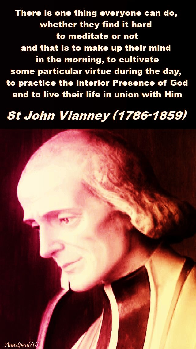 there is one thing - st john vianney - 26 feb 2018 - mon 2nd week lent